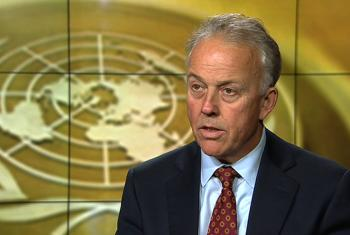 Michael Keating, the Special Representative of the Secretary-General and Head of the UN Assistance Mission in Somalia (screen shot).