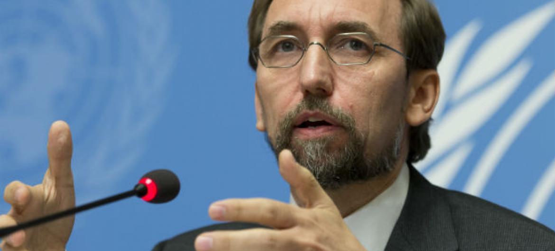 El Alto Comisionado de la ONU para los Derechos Humanos, Zeid Ra'ad Al Hussein. Foto de archivo: ONU/Jean-Marc Ferré