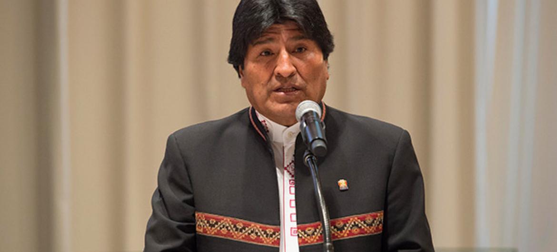 El presidente de Bolivia, Evo Morales, este jueves en la UNGASS. Foto: ONU/Eskinder Debebe