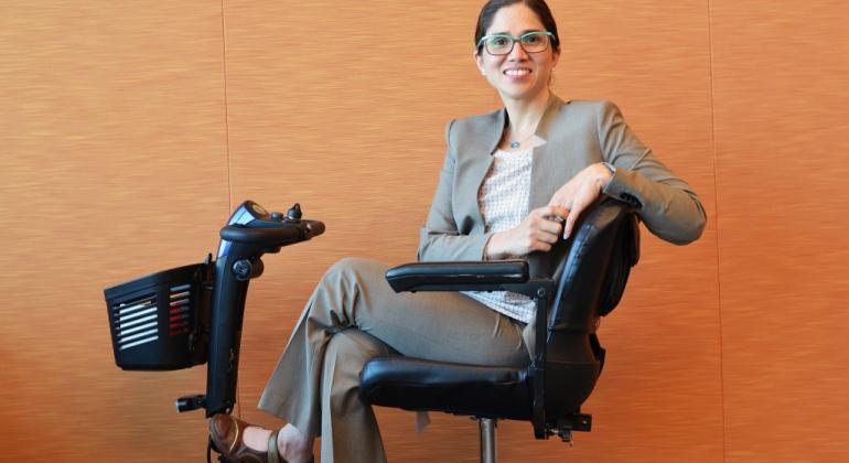 Relatora de la ONU sobre los derechos de las personas con discapacidad, Catalina Devandas Aguilar.