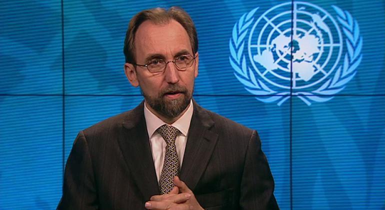 El Alto Comisionado para los Derechos Humanos, Zeid Ra'ad Al Hussein, se sentó por primera vez con Centro de Noticias de la ONU para una entrevista. Foto: ONU