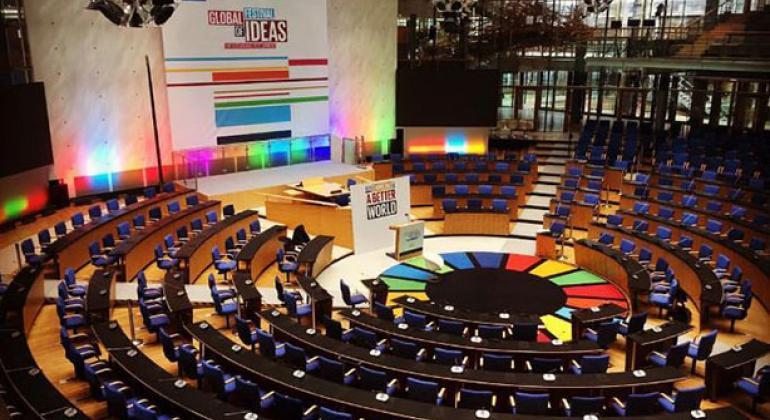 Sede del Festival Global de las Ideas para el Desarrollo Sostenible en Bonn, Alemania. Foto: Twitter Festival Global de las Ideas