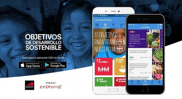 """La aplicación está disponible para Android y iOS bajo el nombre """"SDGs in Action"""". Foto: SDGs in Action"""