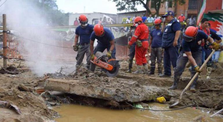 Las fuertes lluvias han causado inundaciones devastadoras y deslizamientos de tierra en Colombia y Perú. Foto: OMM