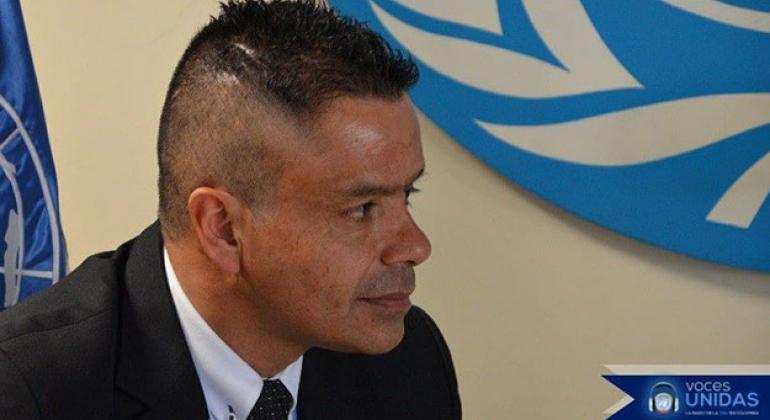 Herledy López durante la entrevista. Foto: CINU Bogotá