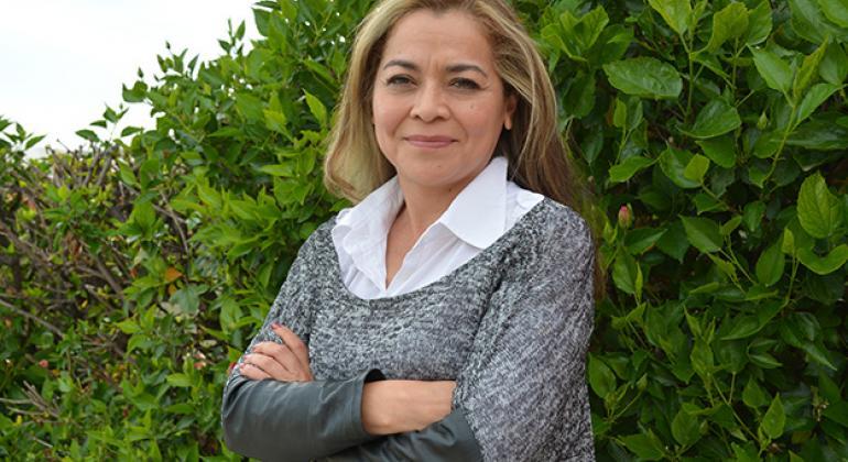 Aleida Elsi Calleja Gutiérrez, coordinadora de Incidencia del Observatorio Latinoamericano de Regulación, Medios Convergencia en el Foro Internacional sobre Medios Indígenas y Comunitarios. Foto: Gabriela Velázquez/UNESCO.