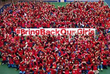 Colegio internacional de Perú se solidariza con las niñas secuestradas en Nigeria.Foto: Facebook Campaña UNICEF Bring Back Our Girls
