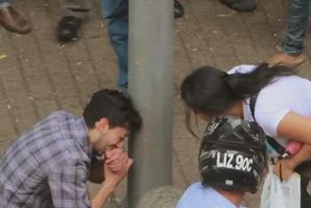 """Captura de video Campaña """"Ante la Trata de Personas, Reaccionemos en Cadena""""."""