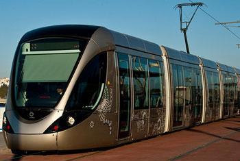 El servicio de tranvías entre Rabat y Salé. Foto: Banco Mundial/Arne Hoel