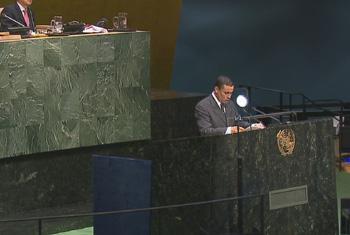 El Ministro de Relaciones Exteriores de la República de Guatemala, Carlos Raúl Morales. Captura de vídeo. UNTV