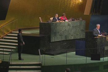 Viceministro de Relaciones Exteriores, Comercio Exterior e Integración de la República del Ecuador, Leonardo Arizaga. Captura de vídeo. UNTV