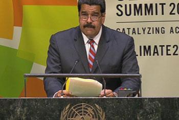 Presidente de la República Bolivariana de Venezuela, Nicolás Maduro Moros. Captura de vídeo. UNTV
