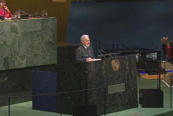 Ministro de Relaciones Exteriores de la República de Nicaragua Samuel Santos López . Captura de vídeo. UNTV