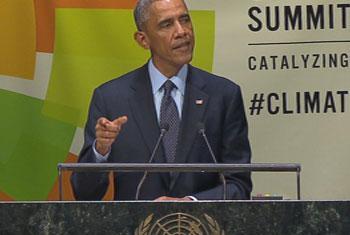Presidente de Estados Unidos de América, Barack Obama. Captura de vídeo. UNTV