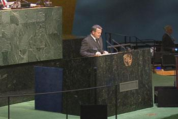 Representante Permanente de la República del Paraguay, José Antonio Dos Santos. Captura de vídeo. UNTV