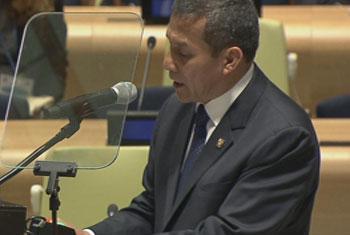 Presidente de la República del Perú, Ollanta Humala Tasso. Captura de vídeo. UNTV