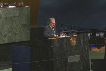 Ministro de Relaciones Exteriores de la República Oriental del Uruguay, Luis Almagro. Captura de vídeo. UNTV