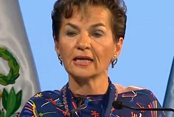 Christiana Figueres, Secretaria Ejecutiva del Convenio Marco de las Naciones Unidas sobre el Cambio Climático. Captura vídeo. Conferencia sobre Cambio Climático de la ONU (COP20)