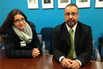 Isolda Atayde y Andrés Rivera Duarte. Foto Radio ONU/Teresa Medina