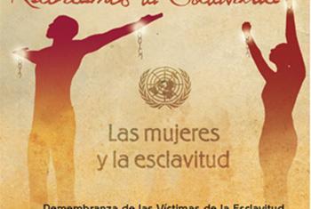 Cartel por el Día Internacional de Recuerdo de las Víctimas de la Esclavitud y la Trata Transatlántica de Esclavos.