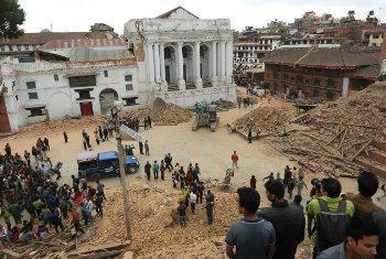 Afectados por el terremoto en Nepal. Foto: PNUD/Nepal