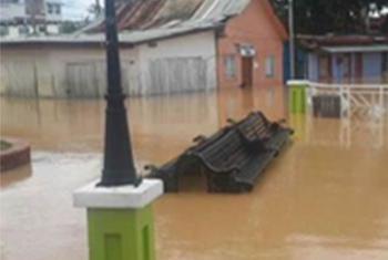 Inundaciones en Bolivia. Foto: Viceministerio Defensa Civil de Bolivia.