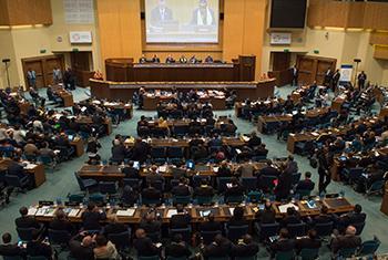 Sala de reuniones de la Tercera Conferencia Internacional sobre Financiamiento al Desarrollo. Foto ONU: Eskinder Debebe