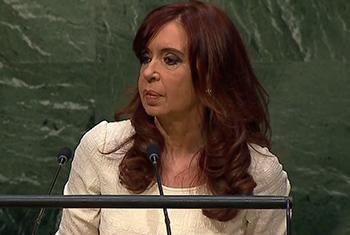 Cristina Fernández. Captura de video. UNTV.