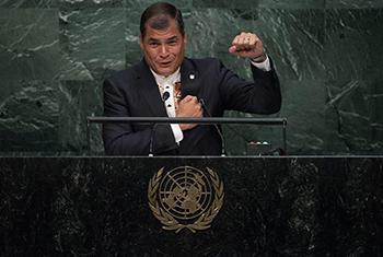 Rafael Correa. Foto ONU: Kim Haughton