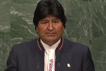 Evo Morales. Captura de video. UNTV.