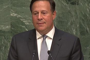 Juan Carlos Varela. Captura de video. UNTV.