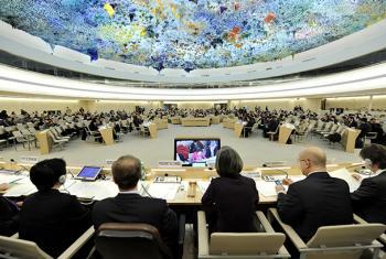 La cúpula del Consejo de Derechos Humanos de la ONU en Ginebra es obra del pintor español Miquel Barceló.