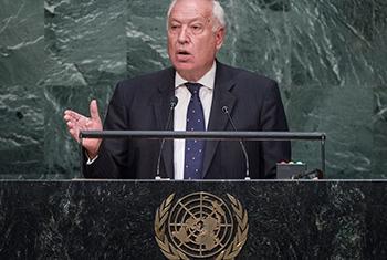 El Ministro de Asuntos Exteriores y Cooperación de España José Manuel García Margallo Foto ONU: Amanda Voisard