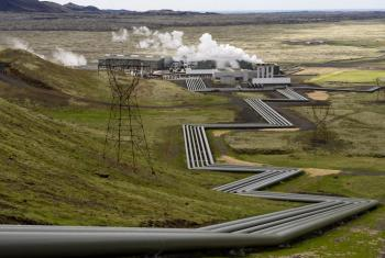 Planta de energía renovable en Islandia. Foto ONU/Eskinder Debebe.