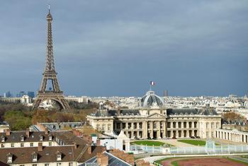 Vista panorámica de la ciudad de París desde la sede de la UNESCO. Foto ONU: Rick Bajornas.