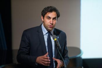 Ahmad Alhendawi, enviado especial de la ONU sobre la juventud. Foto ONU: Yubi Hoffmann.
