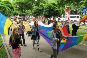 Marcha de orgullo LGBTI. Foto OHCHR/Joseph Smida.