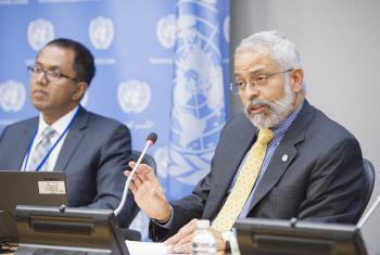 El Subsecretario General Adjunto de la ONU, Lenni Montiel. Foto ONU: Rick Bajornas.