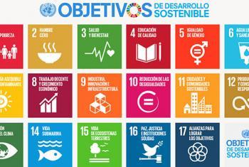 Listado de los 17 Objetivos de Desarrollo Sostenible (ODS). Imagen: ONU