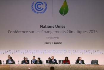 Vista de la presidencia del Comité de París, reunido el 8 de diciembre de 2015. Captura Video Página Web del UNFCC.