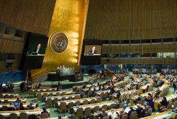 El Secretario General de la ONU se dirige a los participantes en la reunión de Alto Nivel sobre la Cumbre Mundial de la Sociedad de la Información