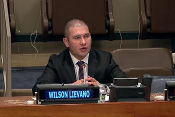 Wilson Liévano, editor de The Wall Street Journal Américas, participó en un foro de la ONU sobre el discurso de odio y cómo este afecta a las comunidades inmigrantes. Captura de Video. UNTV.