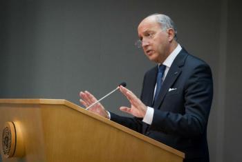 Laurent Fabius es el ministro francés de Relaciones Exteriores y presidente de la COP21. Foto: ONU/Loey Felipe