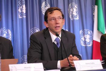 Ramón Padilla Pérez, Jefe de la Unidad de Desarrollo Económico de la sede subregional en México de la CEPAL. Foto: Centro de Información de las Naciones Unidas en México.