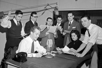 Inicios de Radio ONU en Español. Foto archivo ONU.
