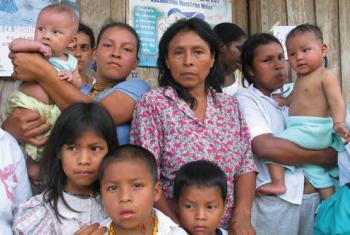 Mujeres desplazadas en Colombia . Foto: CICR/ICRC