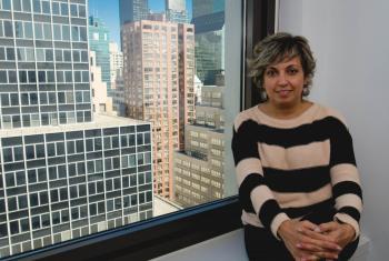 Mónica Novillo de Bolivia es secretaria ejecutiva de la Coordinadora de la Mujer. Participa de la CSW60 en la ONU en Nueva York. Foto: Radio ONU/Rocio Franco