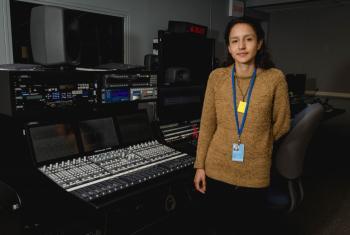 Berta Isabel Zúñiga Cáceres, hija de la reconocida dirigente indígena hondureña Berta Cáceres, asesinada el pasado 3 de marzo. Berta Isabel concedió una entrevista exclusiva a Radio ONU. Foto Radio ONU/Rocío Franco.