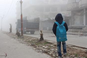 UNICEF advierte que en Siria todavía hay 8 millones de personas que necesitan ayuda humanitaria, la mayoría niños. Foto: UNICEF/El Ouerchefani
