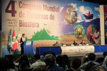 Clausura del 4º Congreso Mundial de Reservas de la Biosfera en Lima, Peru. Foto: UNESCO.